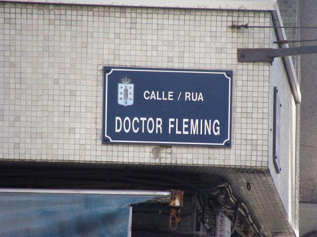 Calle en La Coruña sobre Fleming