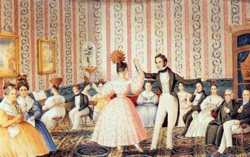 Minué en los altos de Escalada de Carlos Enrique Pellegrini (1834)