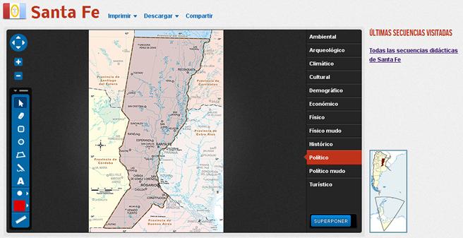 Mapoteca mapa Santa Fe