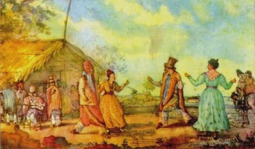 El cielito, acuarela de Carlos Enrique Pellegrini. 1829.