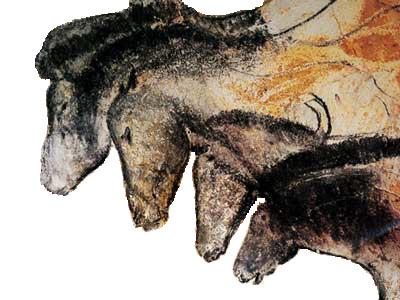 Dibujos de caballos de la cueva de Chauvet