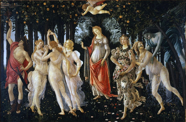 La primavera, de Botticelli, pintada entre 1477 y 1482.
