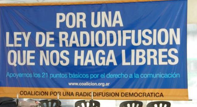 Ley de medios. Coalición por una radiodifusión democrática
