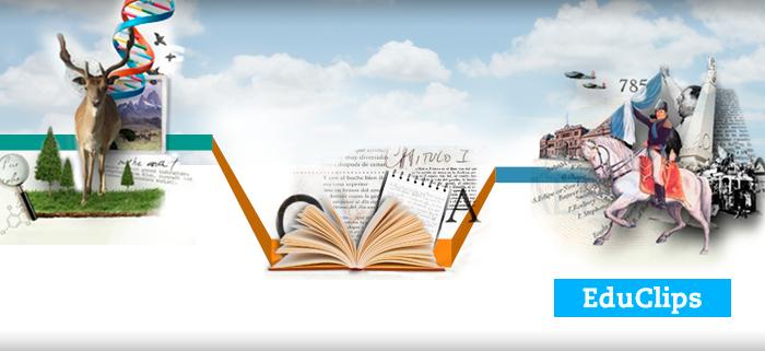 Imagen de portada a la colección de Educlips de Ciencias Sociales, Naturales y Lengua y Literartura