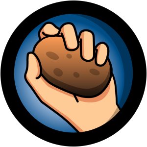 Logo de la aplicación Hot Potatoes.