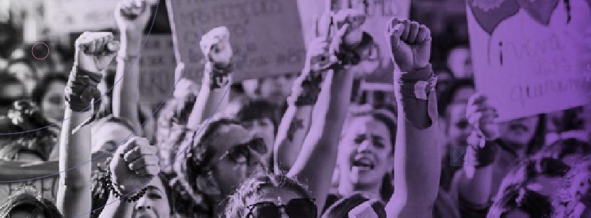 Imagen de movilización de mujeres en 8M.